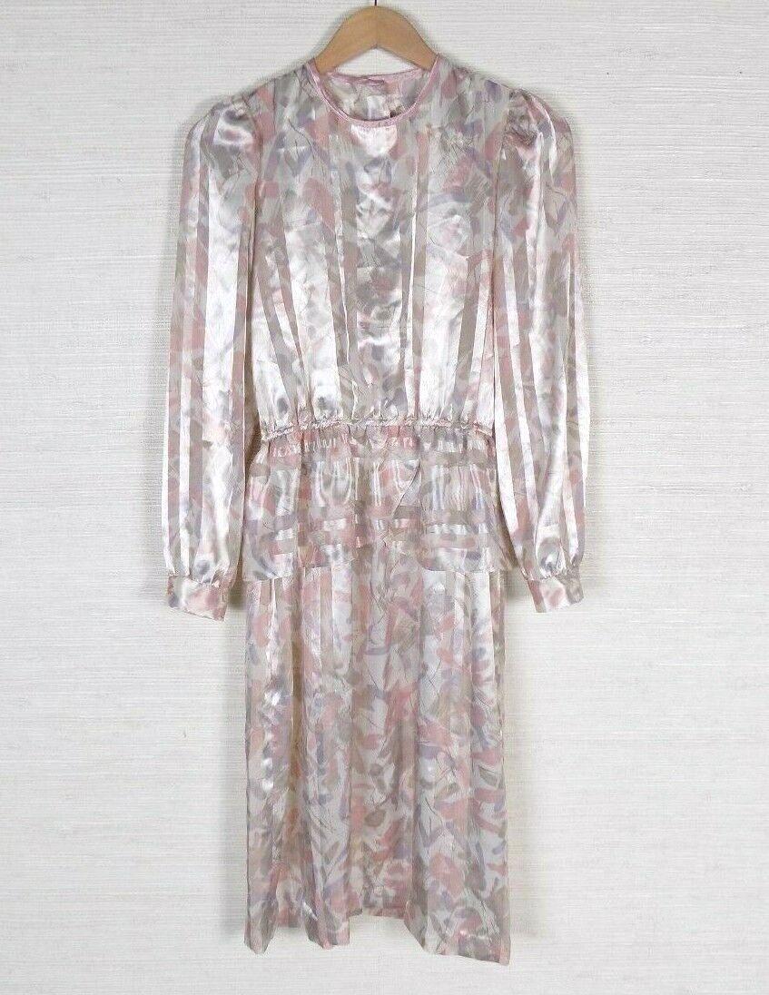 Vintage Handmade damen Blouson Dress Rosa