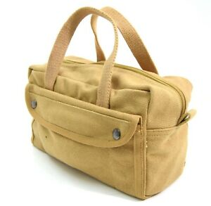US-Army-WW2-Style-Canvas-Tool-Bag-Very-Strong-Tankers-Tools-Kit-Storage-Bag-Tan