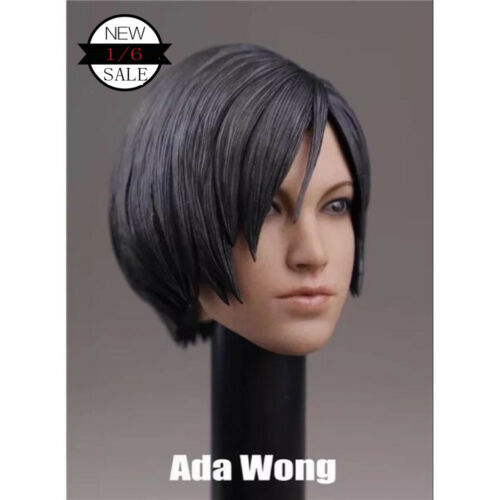 "1//6 Scale Ada Wong Head Sculpt Resident Evil for 12/"" Action Figure"