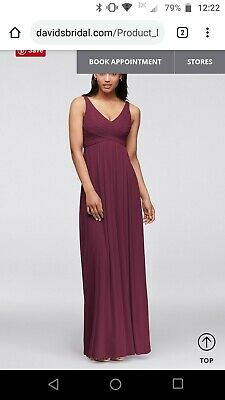 Wine Color Bridesmaid Dress Size 10 Excellent Condition Worn Once Ebay