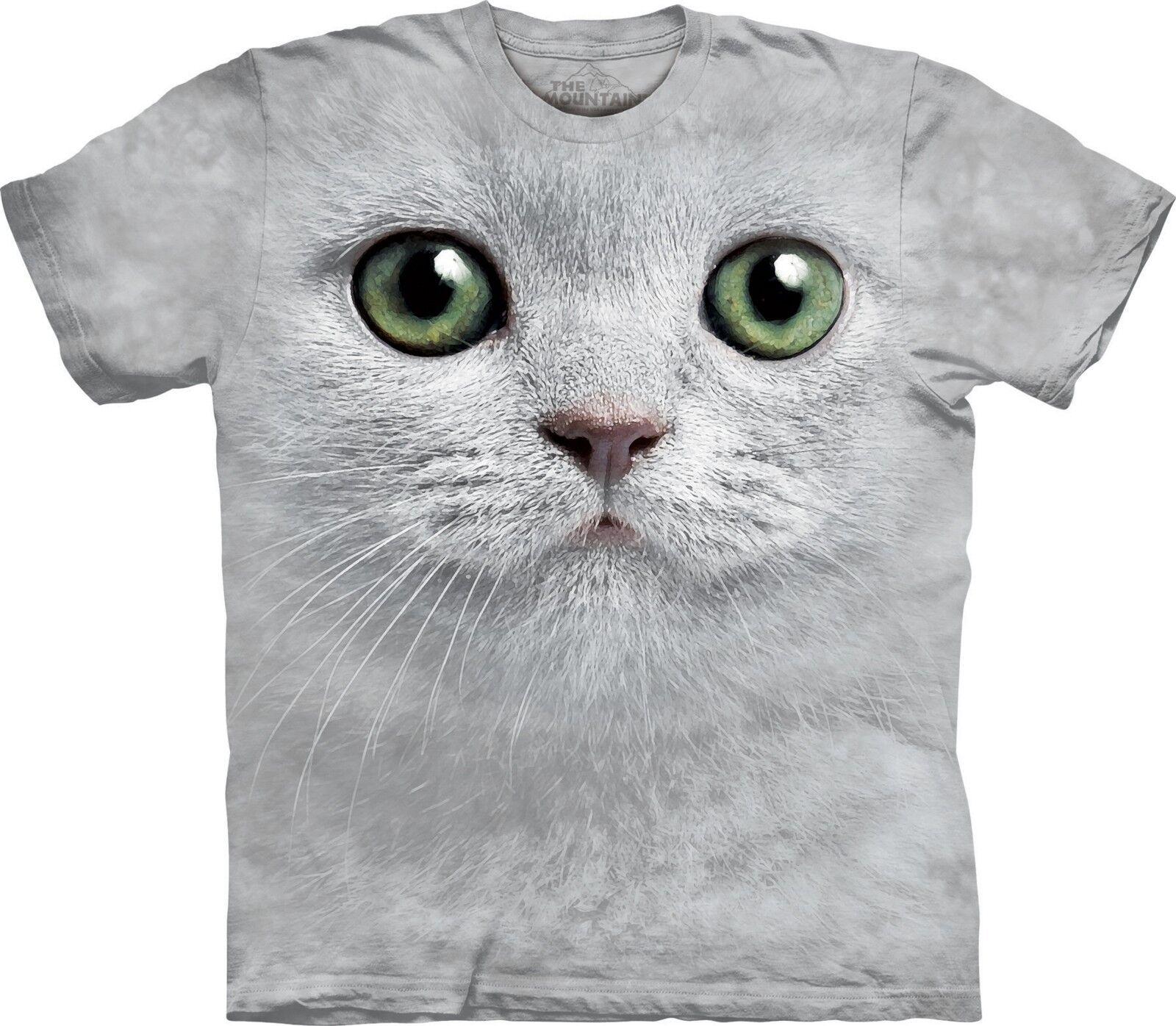ed3e4002 Green Face Cats T Shirt Unisex The Mountain Adult Eyes ptqpdj4566-T ...