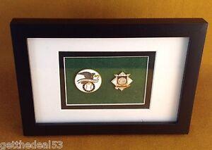 Framed-American-League-Baseball-amp-National-League-Baseball-2-set-medallion