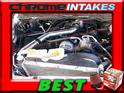 K/&N+BLACK RED 03-08 DODGE RAM 1500//2500//3500 5.7L HEMI FULL COLD AIR INTAKE ST3