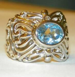 Sterling-Silver-Oval-Blue-Topaz-Ring-Big-Bold-Filigree-Design-7