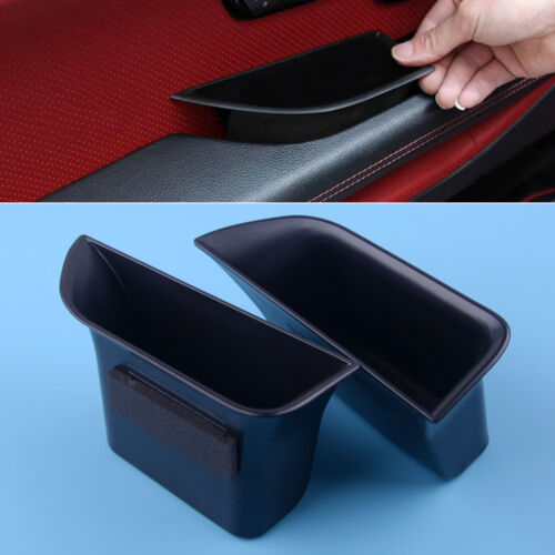 Front Secondary Door Tray Case 2Pcs Storage Box Fit for Jaguar XF 2008-2015