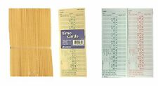 500 Ct Time Cards Punch Employee Payroll Amano clock 2 Sided Adams 9675A5 NEW