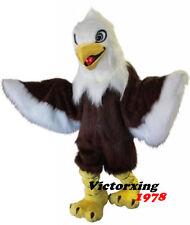Deluxe Long Fur Eagle Mascot Costume Animal Cartoon Costume Free Shipping