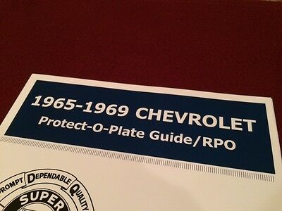 GM//Chevy Protect-O-Plate Decoder Guide 1965-1972