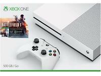 Microsoft Xbox One S 500GB Console Battlefield 1 Bundle (White)