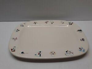 1999-Bath-amp-Body-Works-Decorative-Festive-Holiday-Snowman-Christmas-Platter-Dish