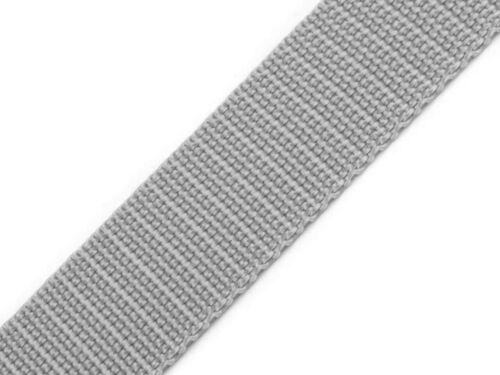 20mm 0,55€//1m 4 Meter Gurtband hellgrau