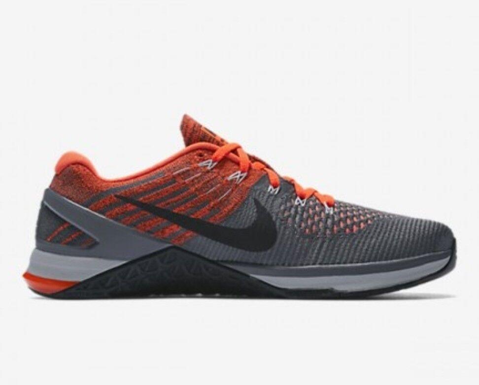 Nike Metcon DSX Flyknit Dark UK 8 EUR 42.5 Dark Flyknit Grey Gris Fonce 852930 010 Training a3f88b