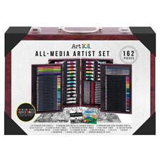 Art 101 All-Media Artist Painting & Drawing 154-Piece Wooden Case Artist Set