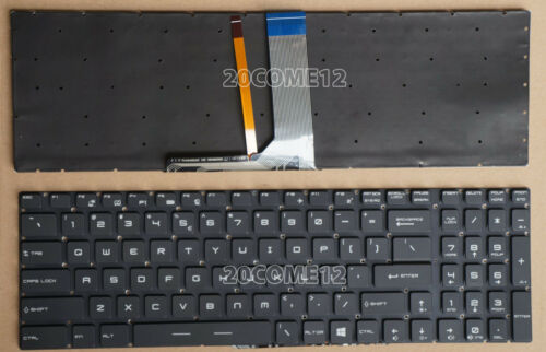 For MSI GT72 GS60 GS70 WS60 GE62 Backlit keyboard Crystal Space BAR KEY /& Clips