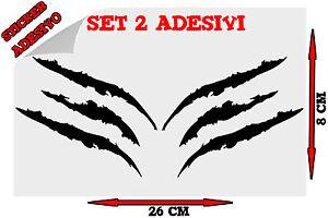 Sticker-2x-Adesivi-Decal-Graffio-Graffi-Artigli-Artiglio-Claw-Tuning-Auto-Moto