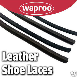 5139d62469ac Image is loading Leather-Shoelaces-120cm-Black-Brown-Tan-Burg-Neutral-