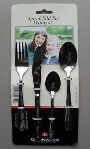 Enfants-Set-de-Couverts-Enfant-Taille-couteau-fourchette-cuillere-4-pieces-Windsor-Grunwerg