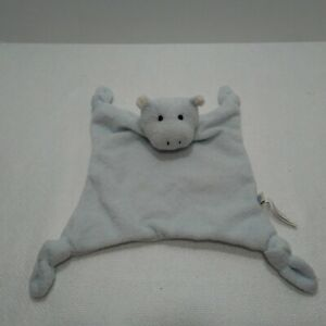 Pottery Barn Kids Blue HIPPO Security Blanket Plush ...