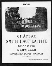 GRAVES GCC VIEILLE ETIQUETTE CHATEAU SMITH HAUT LAFITTE 1920  §11/09/16§