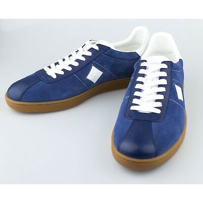 New LOUIS VUITTON 'Luxembourg' Blue Leather Sneakers Shoes Size 11.5 US 44.5 EU