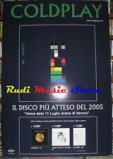 CARTONATO PROMO COLDPLAY x&y 68 X 98 cd dvd vhs lp live