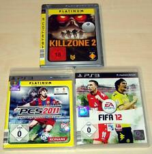 3 PLAYSTATION 3 PS3 SPIELE SAMMLUNG FIFA 12 PES 2011 KILLZONE 2 --- (13 14)
