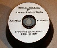 Hp Hewlett Packard 141t Spectrum Analyzer Display, Operating & Service Manual