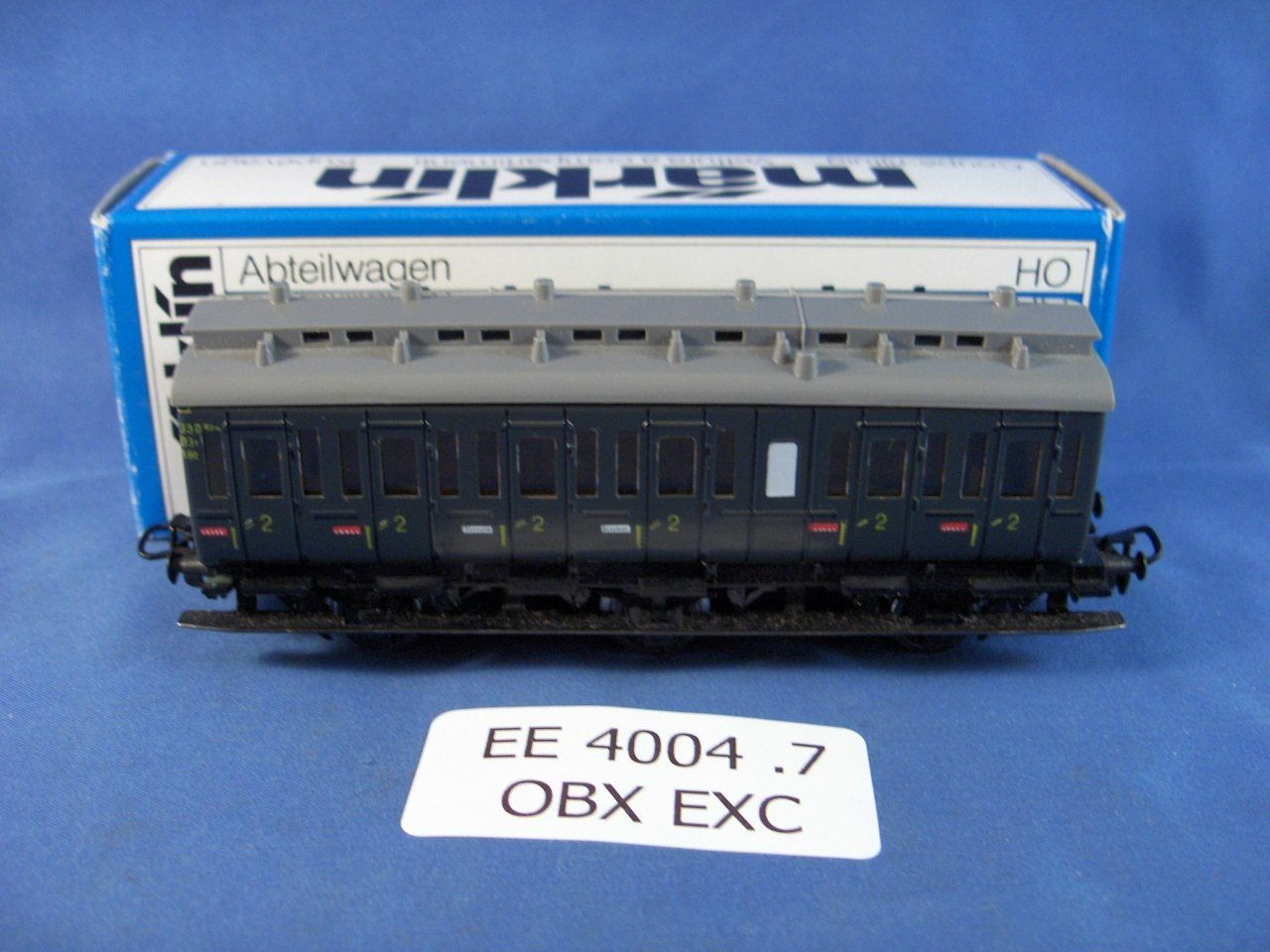 EE 4004 Marklin HO verde Passenger Car 2nd Class 4004.7 EXC Condition