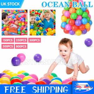 300Pcs Colourful Pit Balls Soft Plastic Ocean Toy Kids Baby Playpen Swim Pool UK