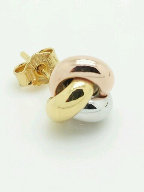 6063ec73accc5 14k Italian Yellow Gold Love Knot Stud Earrings Italy 9mm