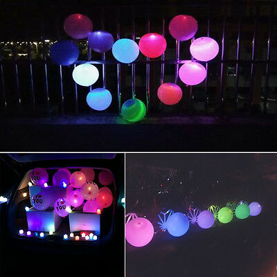 """Light Up LED Balloons Lights 12"""" Latex Wedding Decorations Party Birthday Lot"""
