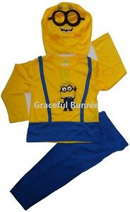 BNWT-Despicable-Me-Minions-Kids-Costume-Dress-up-Cosplay-3-8yrs