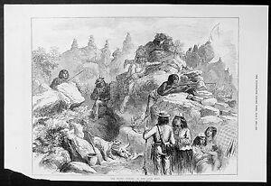1873 ILN Antique Print Modoc Indians Oregon, California