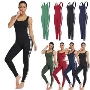 7ffb9915f1df US Women s Sport Yoga Gym Rompers Suit Fitness Workout Jumpsuit ...