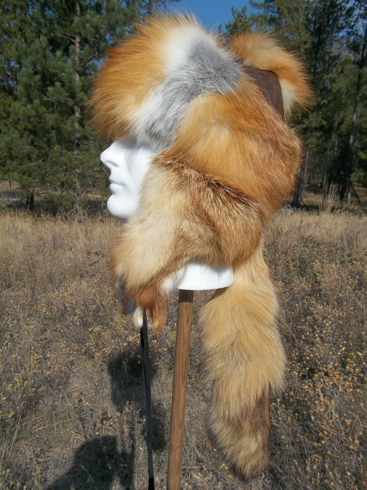 NEW Red Fox Mongolian Style Fur Hat   ;mountainman,USA  online store