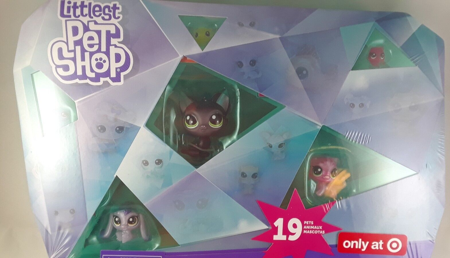 Littlest Pet Pet Pet Shop Exclusive Crystal Collection Set of 19 Pets Jade Catkins New 840e13