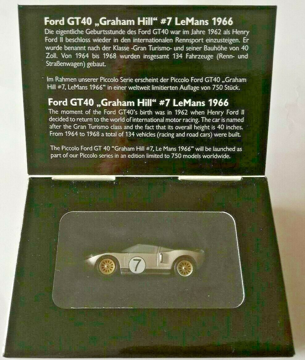 Schuco 450145000 FORD gt40 Graham Hill #7 LEMANS 1966 modello ho 1:90 OVP