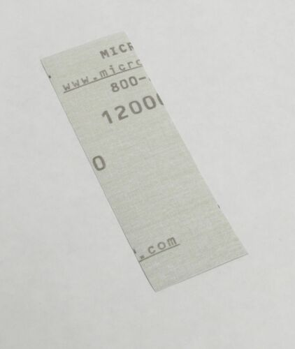 "11 Pc 12000 Grit EXTRA FINE Sandpaper Wet  Dry 3""x 5.5/"" COMBO 7000"