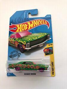 Hot-Wheels-2019-64-BUICK-RIVIERA-217-250-HW-Art-Cars-4-10-Mattel-Diecast-FYC23