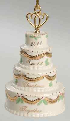 Lenox OUR 1ST CHRISTMAS TOGETHER ORNAMENT 2011 Wedding ...
