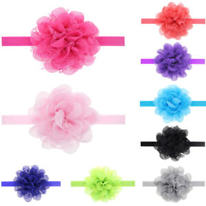 Image is loading Baby-Toddler-Girls-Chiffon-Floral-Lace-Headband-Elastic- 9a4f36667c4