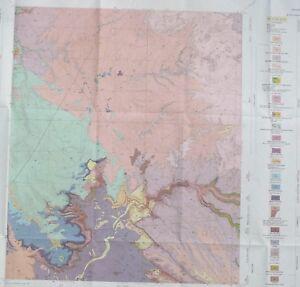 Geologic Map Of Arizona.Usgs Brandenburg Mountain Pinal County Arizona Geologic Map 1968