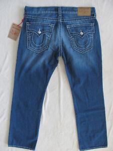 3341b775165 True Religion Big T-Straight Jeans-Flap Pockets -Ultra Indigo-Size ...
