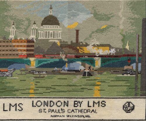 Londres por LMS Tren De Vapor Ferrocarril Cartel puntada cruzada contada kit//chart 14s