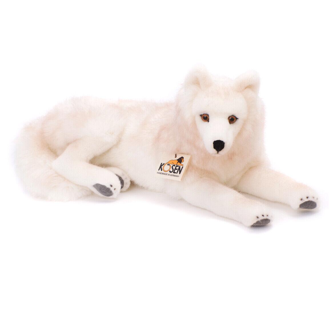 Arctic Polar Wolf collectable plush soft toy - Kosen   Kösen - 6070 - 41cm