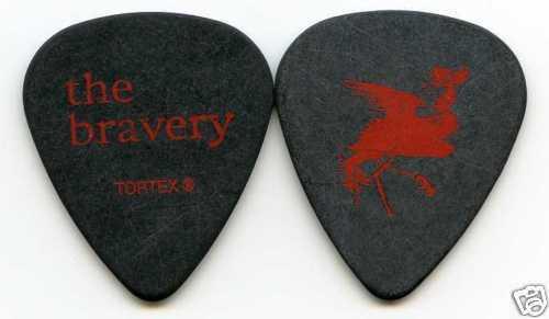 MICHAEL ZAKARIN custom stage THE BRAVERY 2005 Debut Concert Tour Guitar Pick!!
