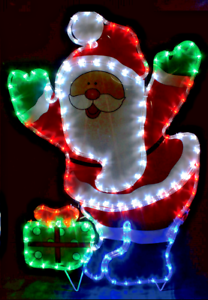 Santa father christmas display festive rope lights indoor or image is loading santa father christmas display festive rope lights indoor aloadofball Gallery