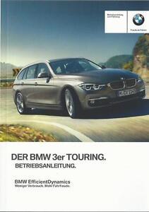 BMW-3er-TOURING-F31-Betriebsanleitung-2016-Bedienungsanleitung-Handbuch-BA