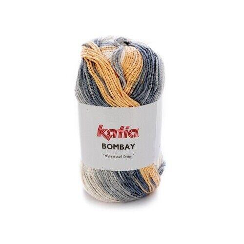 230 M de lana 2030 - 100 G//aprox Bombay de Katia-gris//beis//marrón