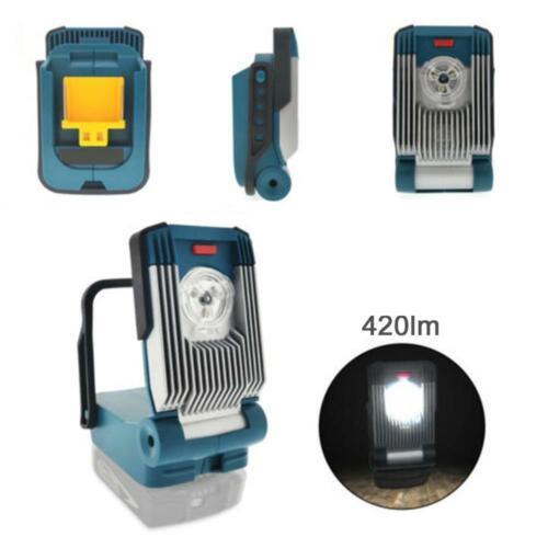 Für makita 14,4 v//18v li-ion tragbare arbeitslicht taschenlampe licht